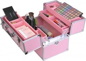 maleta maquillaje rosa