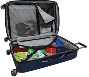 maleta policarbonato azul